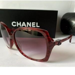 Chanel 5216 1306 /3P Red Burgundy Purple Sunglass